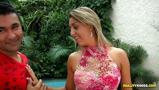 Delightful mature latin Pryscila Brandao bangs with hot male